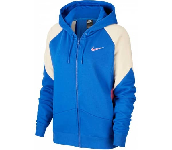 NIKE SPORTSWEAR Blue Women Zip-up Sweatshirt - 1