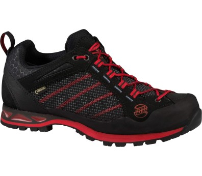 Hanwag - Makra Low GTX men's Approach shoes (black/red)
