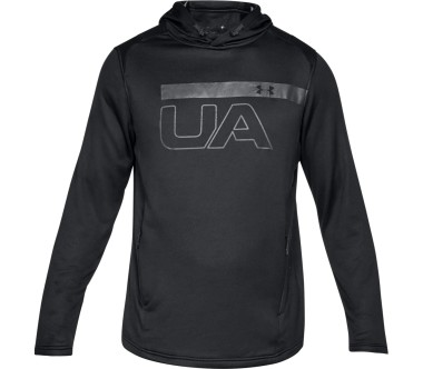 Under Armour - Tech Terry PO Graphic men's training hoodie (black)