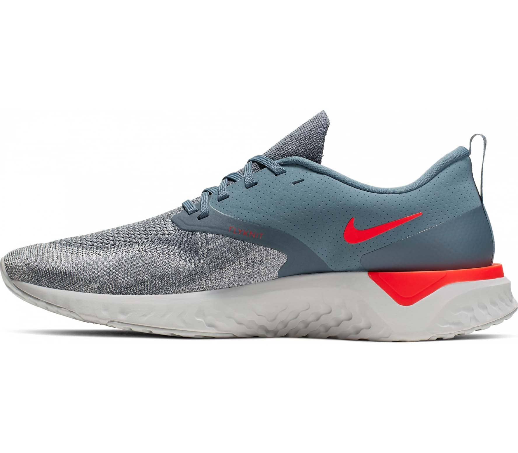 Nike - Odyssey React Flyknit 2 Hommes chaussure de course (gris)