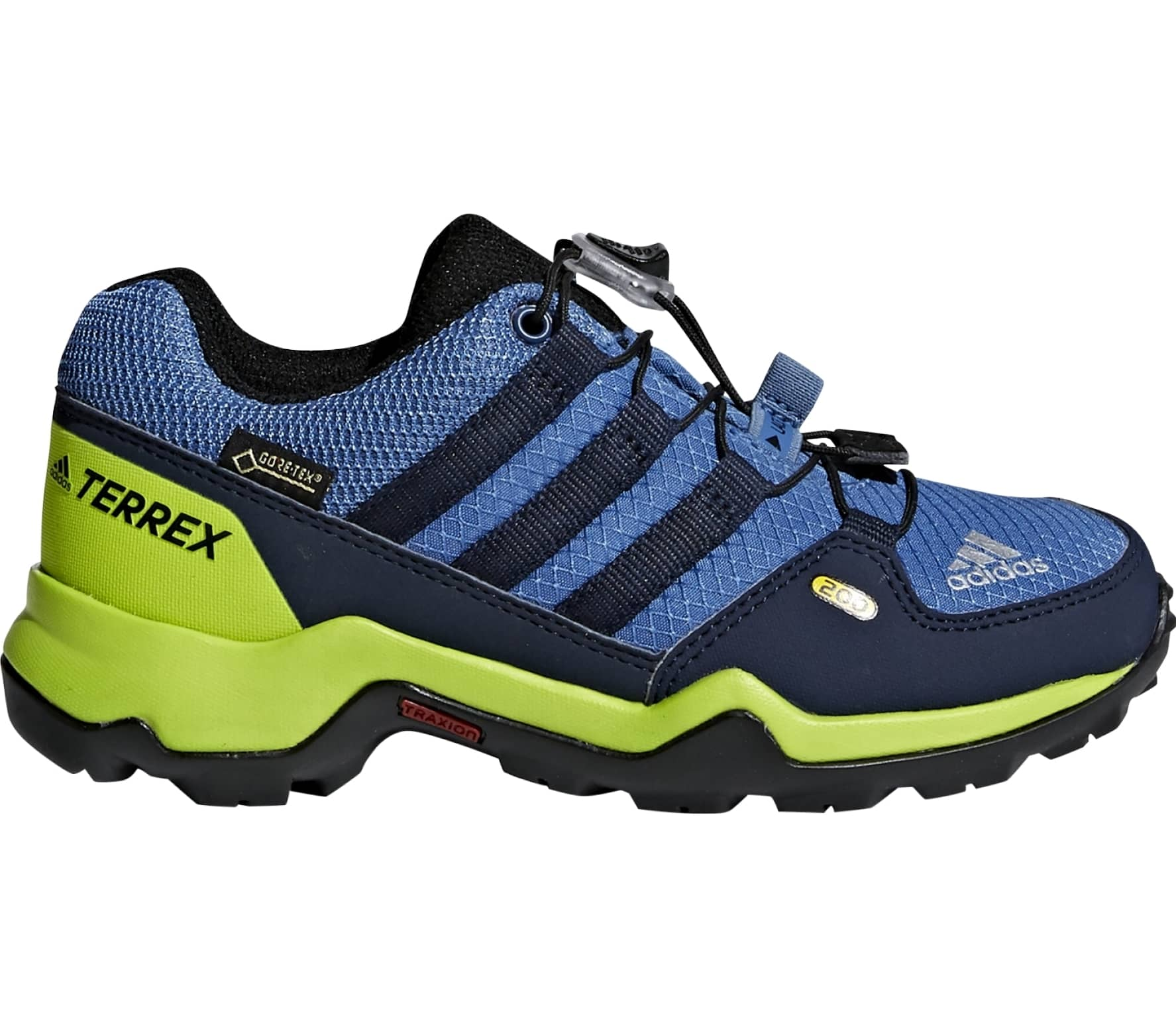 Adidas - Terrex Gtx Children hiking shoes (blue-yellow) - buy it at ... 9c067f0c6