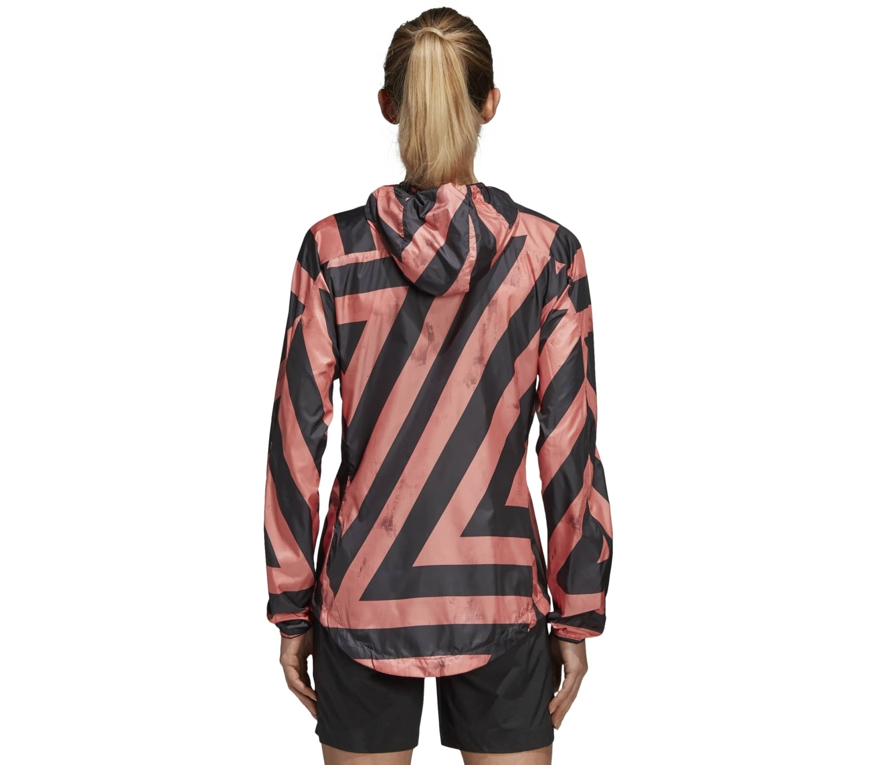 adidas agravic damen windbreaker schwarz orange im online shop von keller sports kaufen. Black Bedroom Furniture Sets. Home Design Ideas