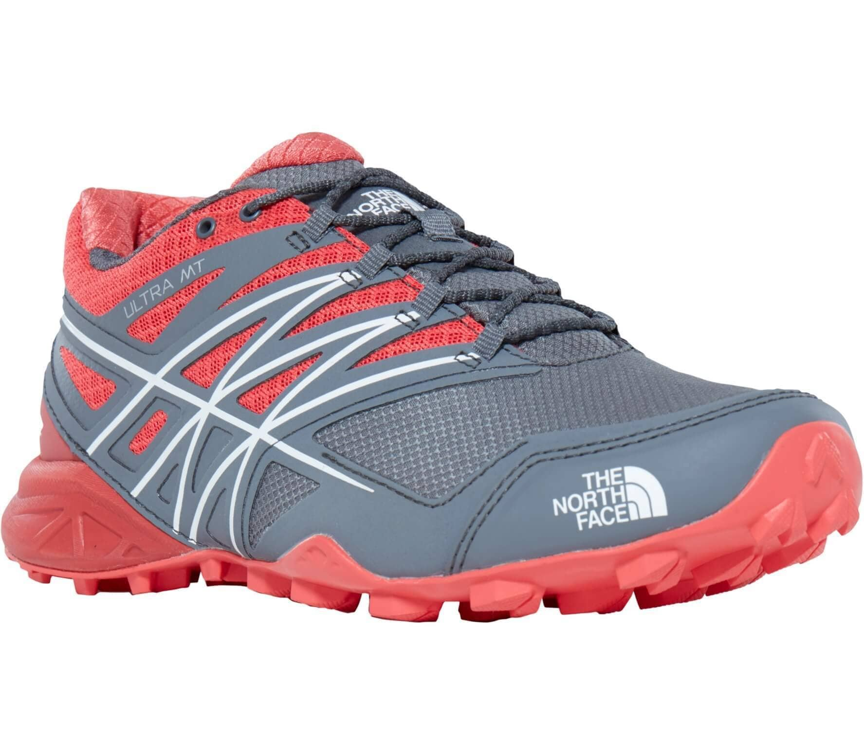 b57cc4d0a The North Face - Ultra MT GTX women's trail running shoes (grey/pink)