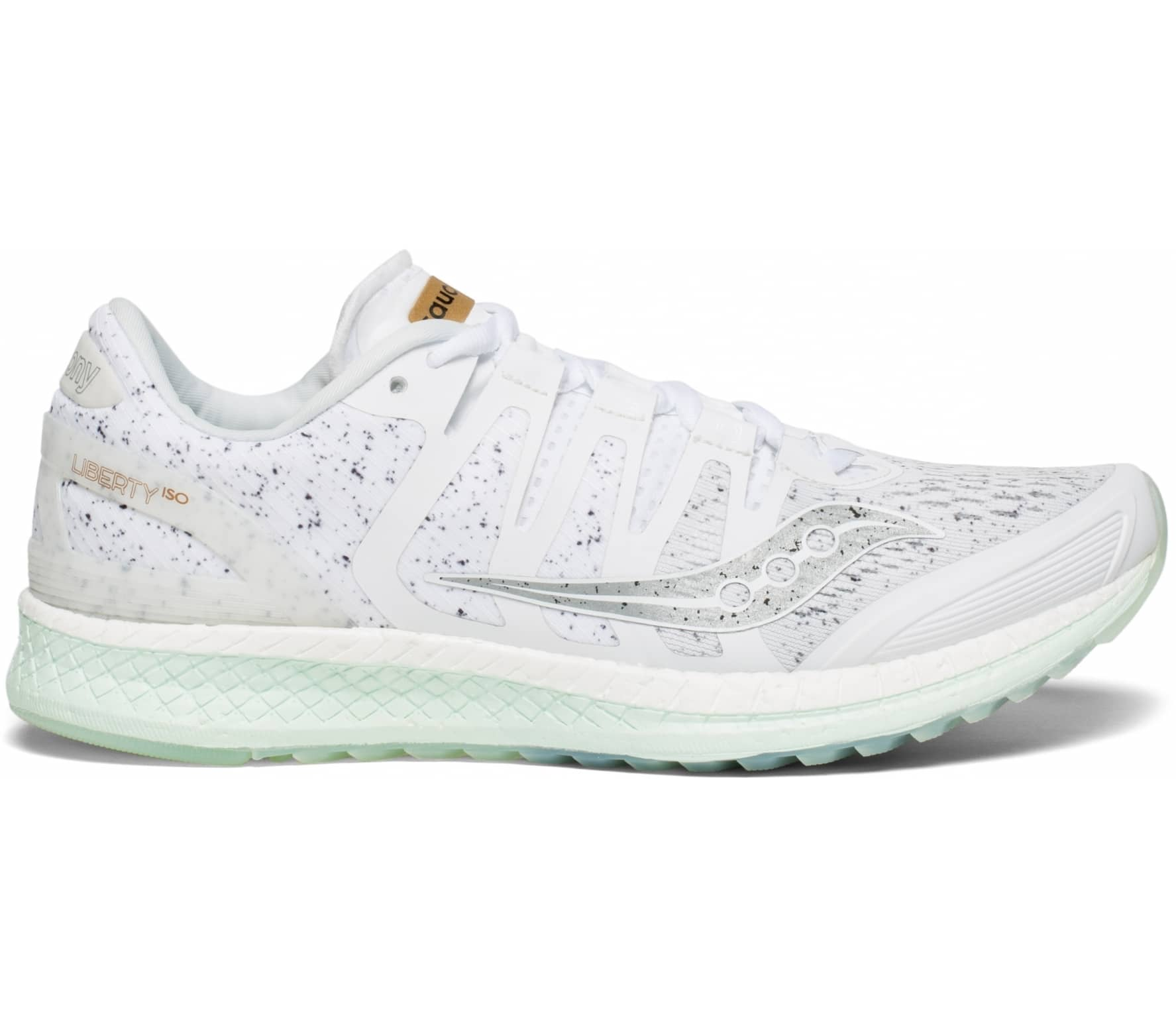 c689f3e92c3 Saucony - Liberty Iso women's running shoes (white/mint) Køb online ...