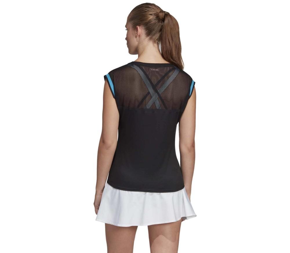 Adidas Escouade Damen Tennis Tank Top schwarz