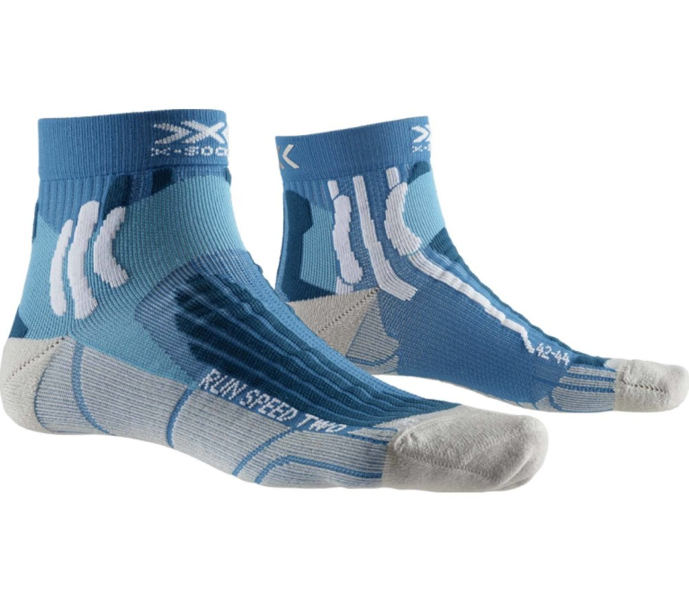 X-Bionic - Speed Two Hommes chaussettes (turquoise/gris)
