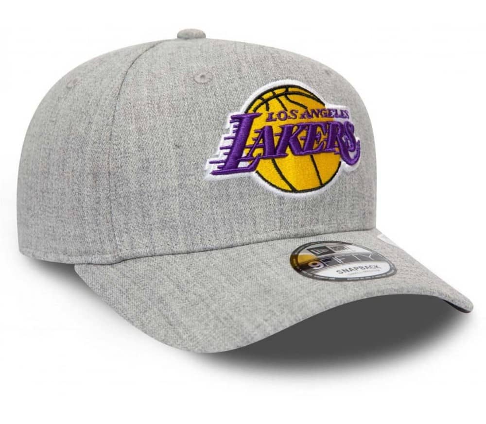 Heather Base 9Fifty Stretch Snap Los Angeles Lakers Men Cap