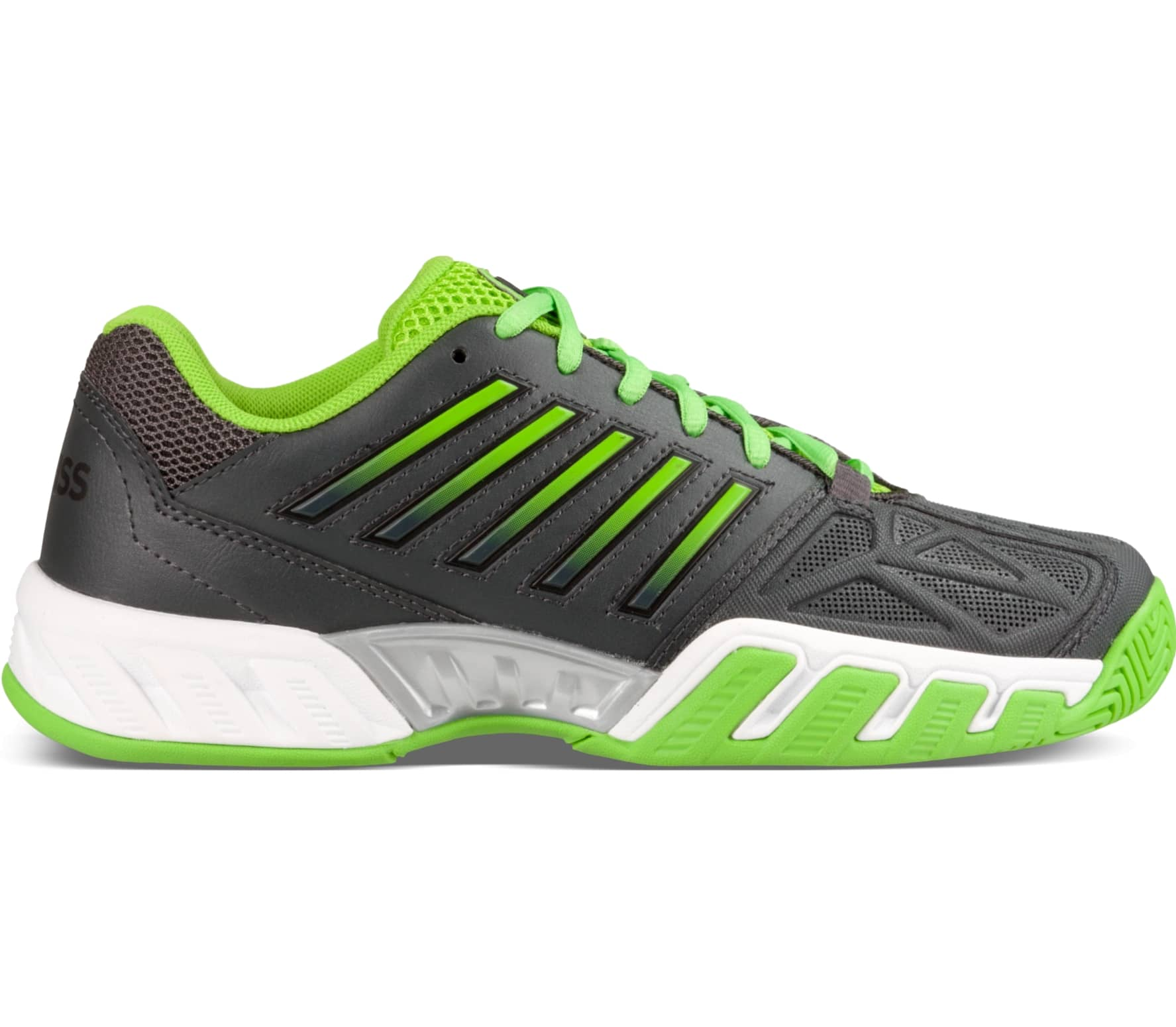 d3dfe452cb24 K-Swiss - Bigshot Light 3 Children tennis shoes (black green) - buy ...