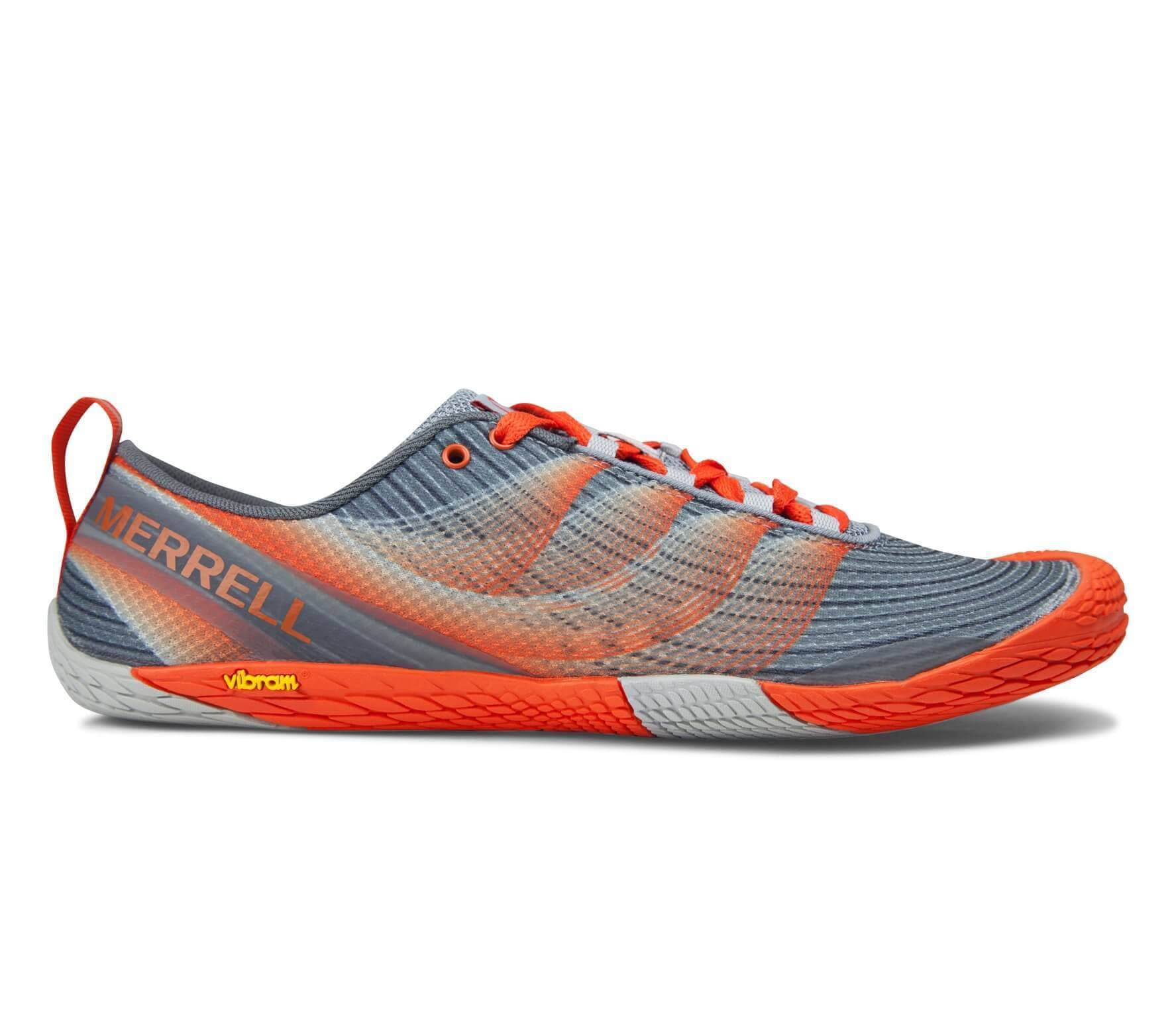 b136e2aecd Merrell - Vapor Glove 2 men's trail running shoes (grey/orange ...