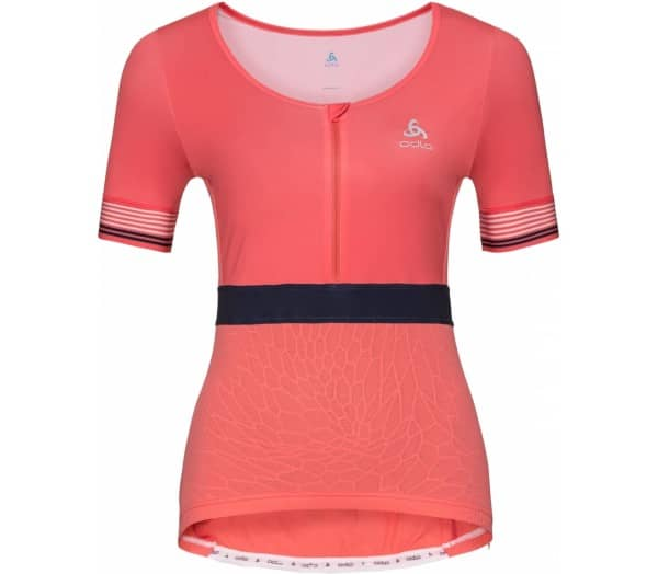 ODLO Ceramicool X-Light Stand-Up Collar Half-Zip Donna Maglia da ciclismo - 1