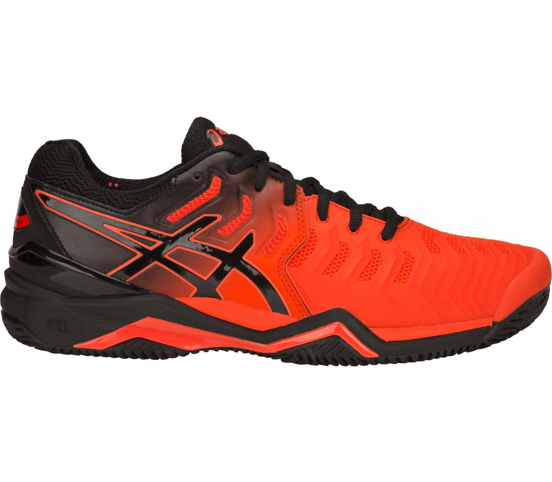 sports shoes aac25 9d6f8 ASICS - GEL-Resolution 7 Clay men s tennis shoes (red black)