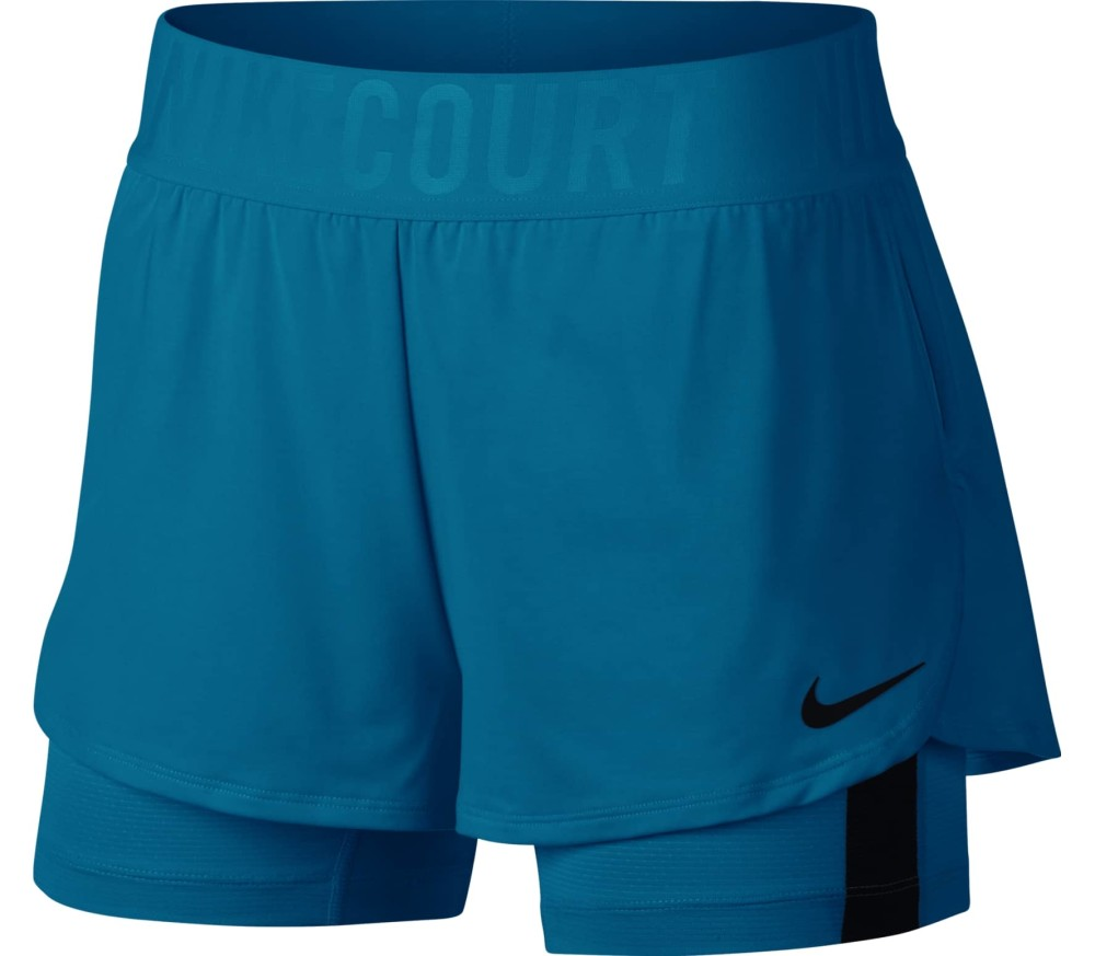 fb315050dcc Nike - Court Dry Ace women's tennis shorts (blue) - buy it at the ...