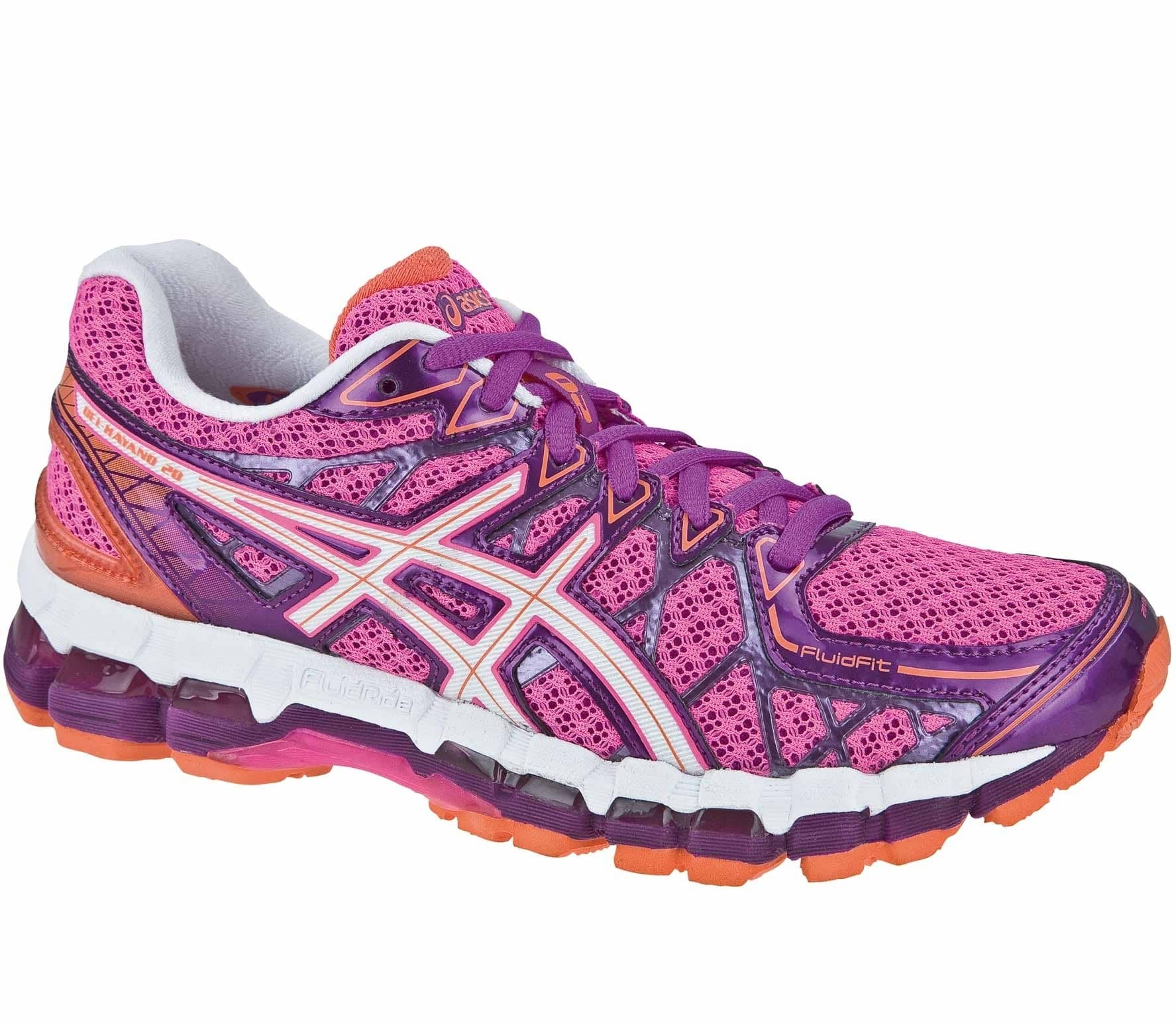 asics gel kayano 20 damen laufschuhe pink wei im online. Black Bedroom Furniture Sets. Home Design Ideas