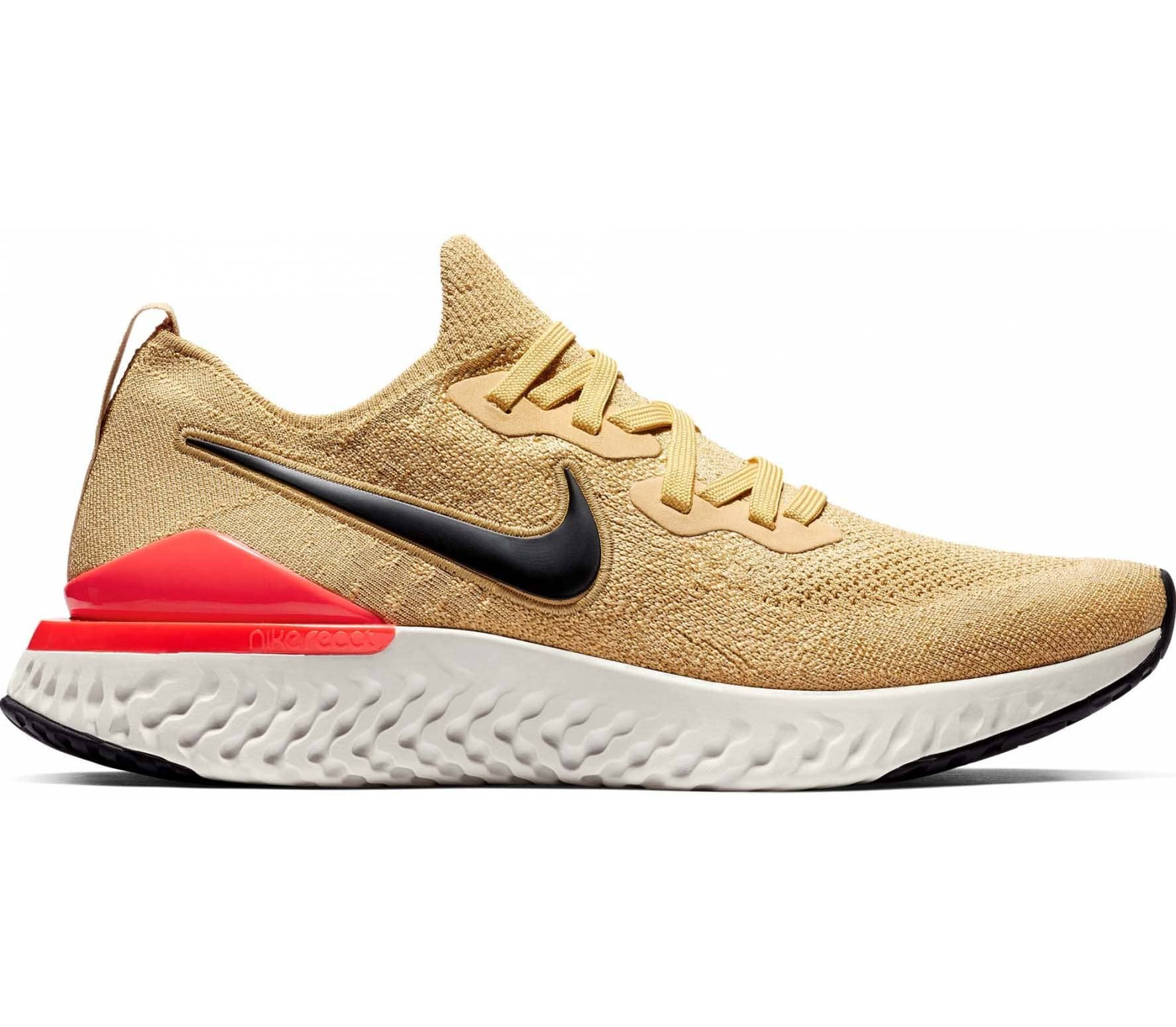 a2d228f47c70 Nike - Epic React Flyknit 2 men s running shoes (gold orange) - buy ...