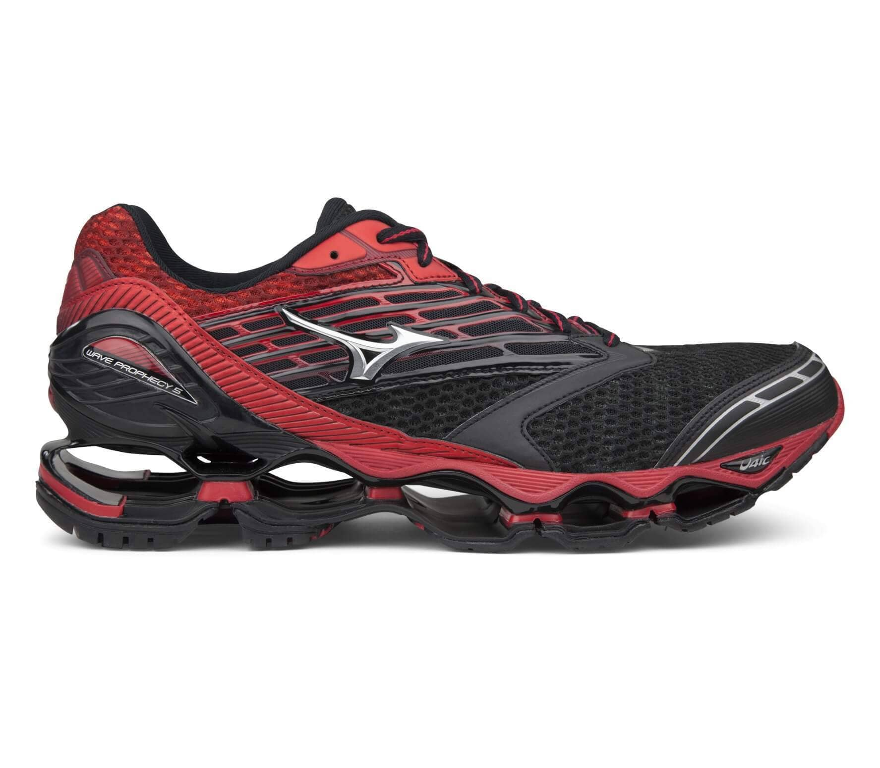 info for 4f6b0 350ff Mizuno - Wave Prophecy 5 men s running shoes (black red)