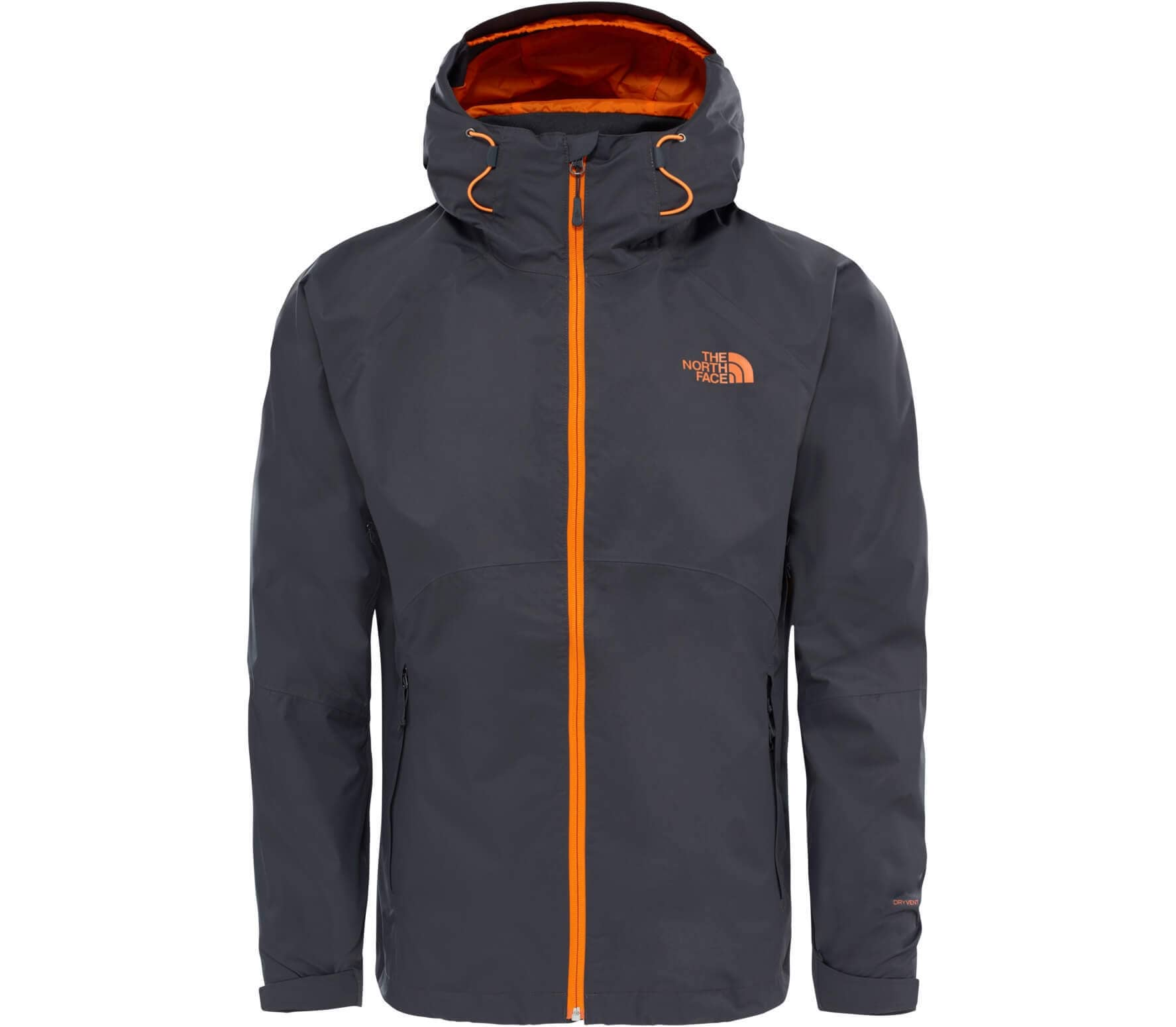 the north face sequence herren regenjacke dunkelgrau orange im online shop von keller sports. Black Bedroom Furniture Sets. Home Design Ideas