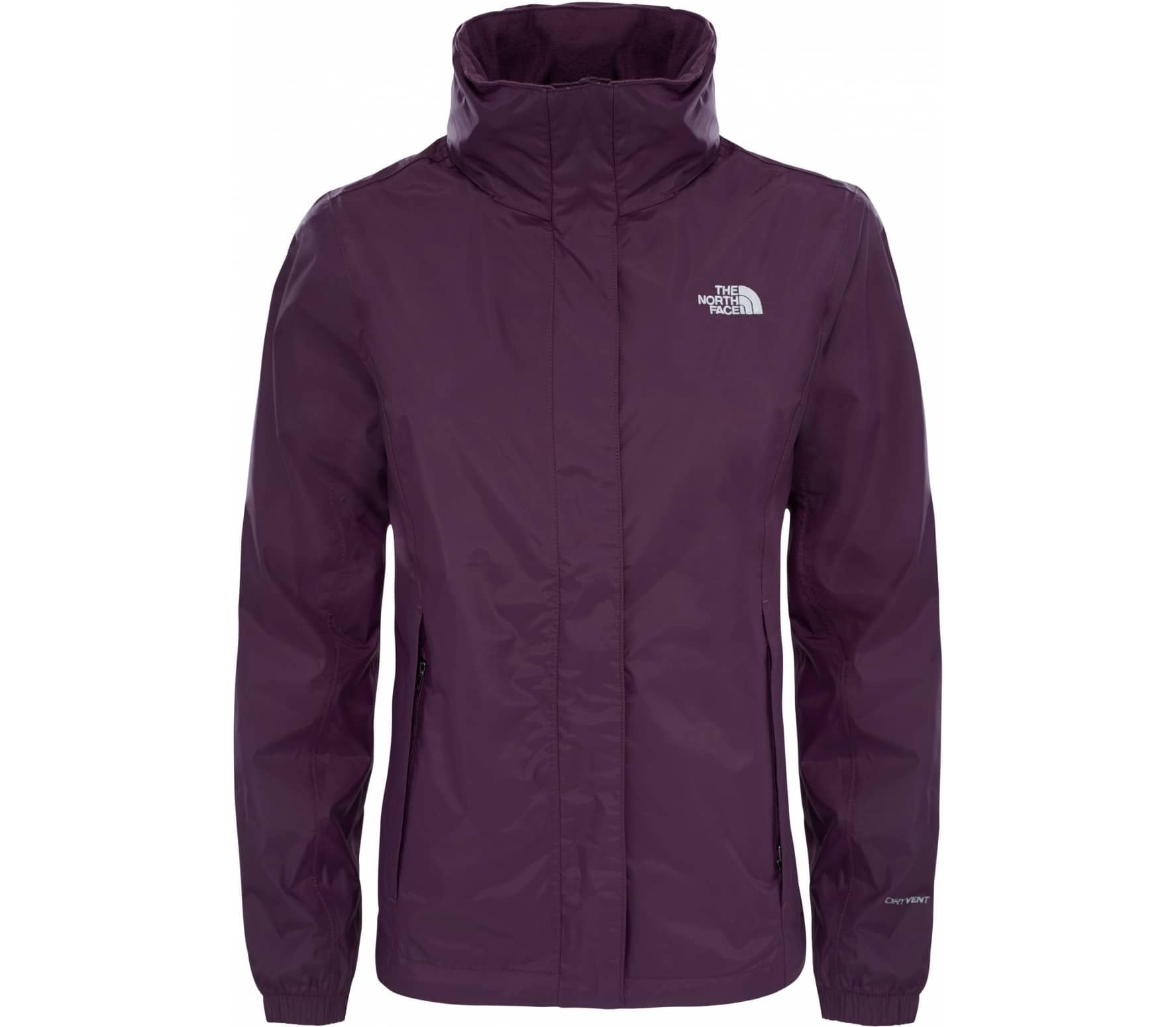 the north face resolve 2 damen regenjacke violett im online shop von keller sports kaufen. Black Bedroom Furniture Sets. Home Design Ideas