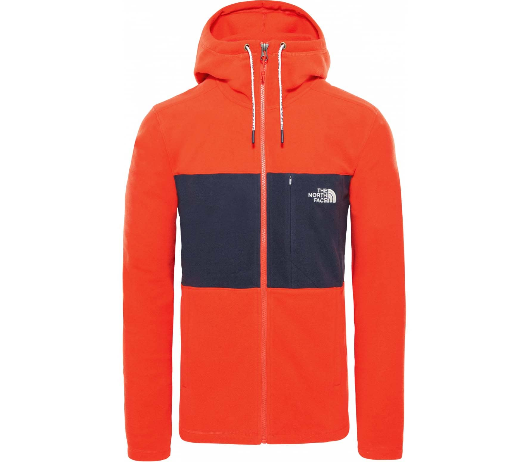 The north face Blocked Tka 100 Full Zip Herr Fleecejacka orange