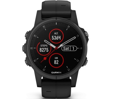 Garmin - Fenix 5S Plus Saphir Edition multisports watch (black)