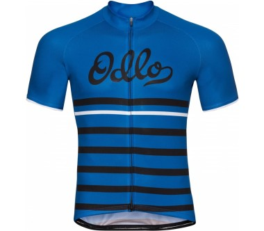 Odlo - Stand-Up Collar Full-Zip Fujin Print Shortsleeve Herren Bike Trikot (blau/schwarz)