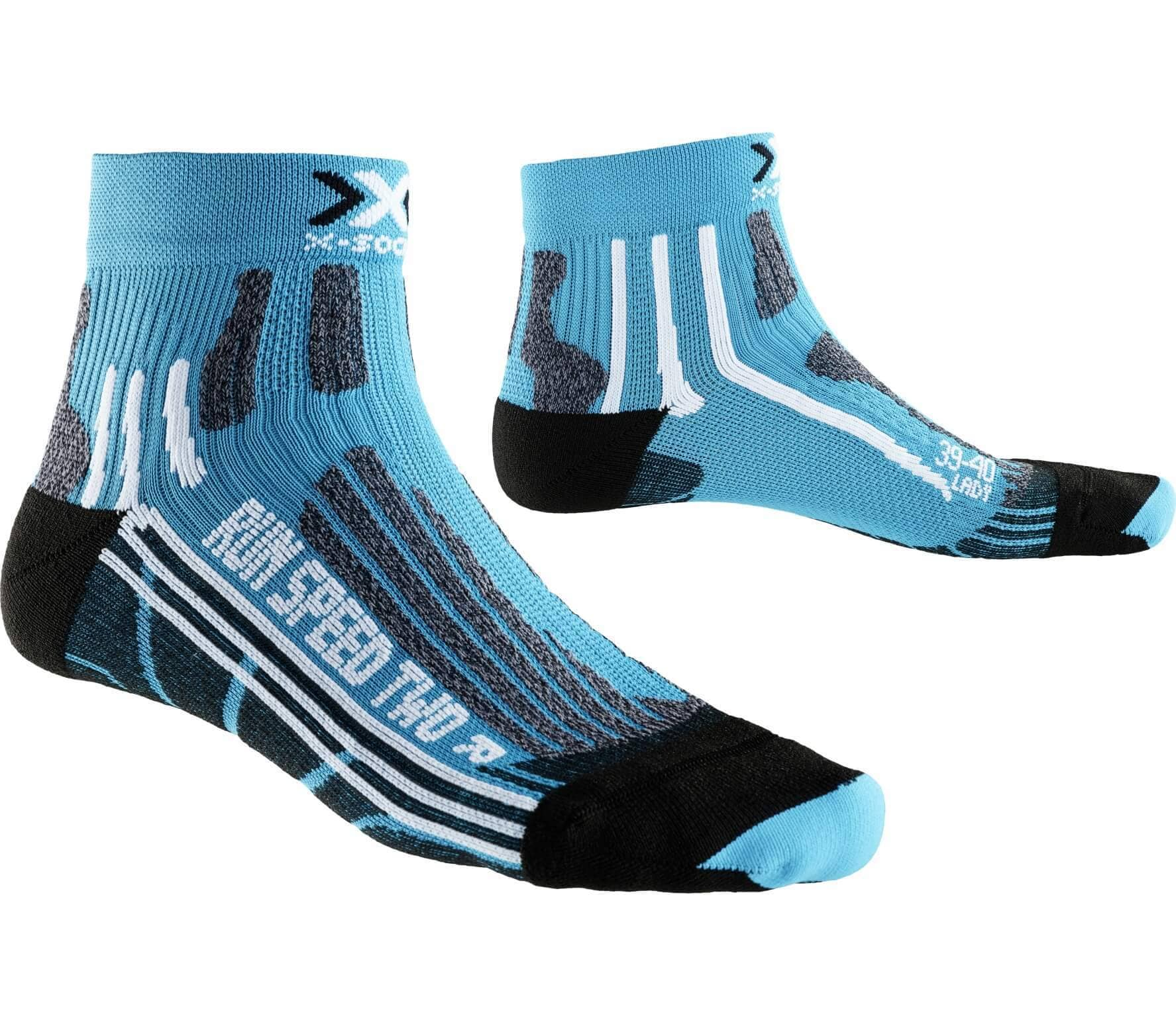 X-BIONIC Run Speed Two Donna Calzini da sci blu