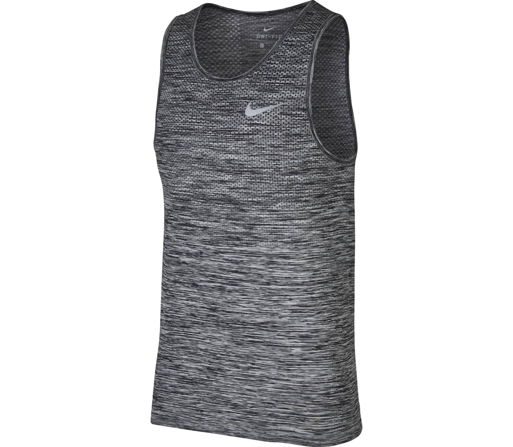 c792f88c9de0d Nike - Dri-Fit Knit men's running tank top top (black/grey) - buy it ...