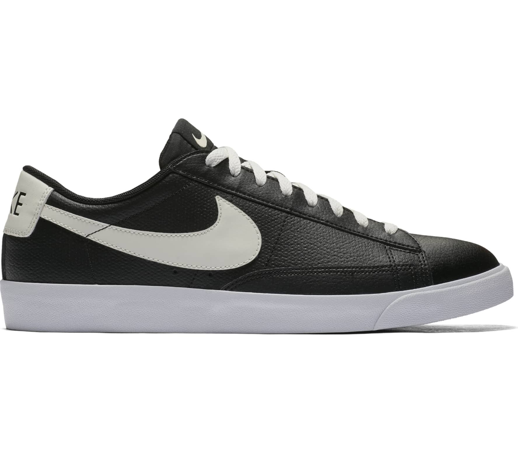 premium selection fe71a 7d732 ... switzerland nike blazer low leather herren sneaker schwarz weiß 5568f  3a765