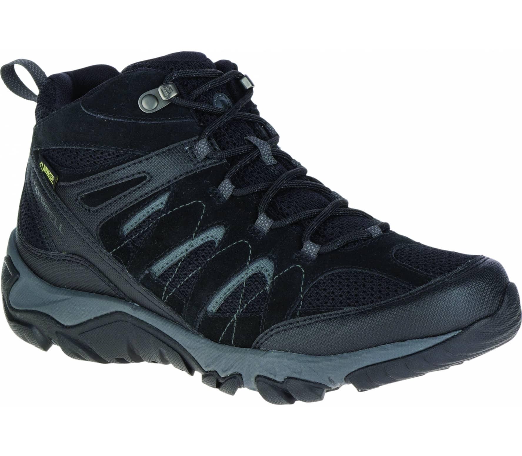 Merrell Outmost MID GTX Hommes chaussures de randonnée Hommes argenté