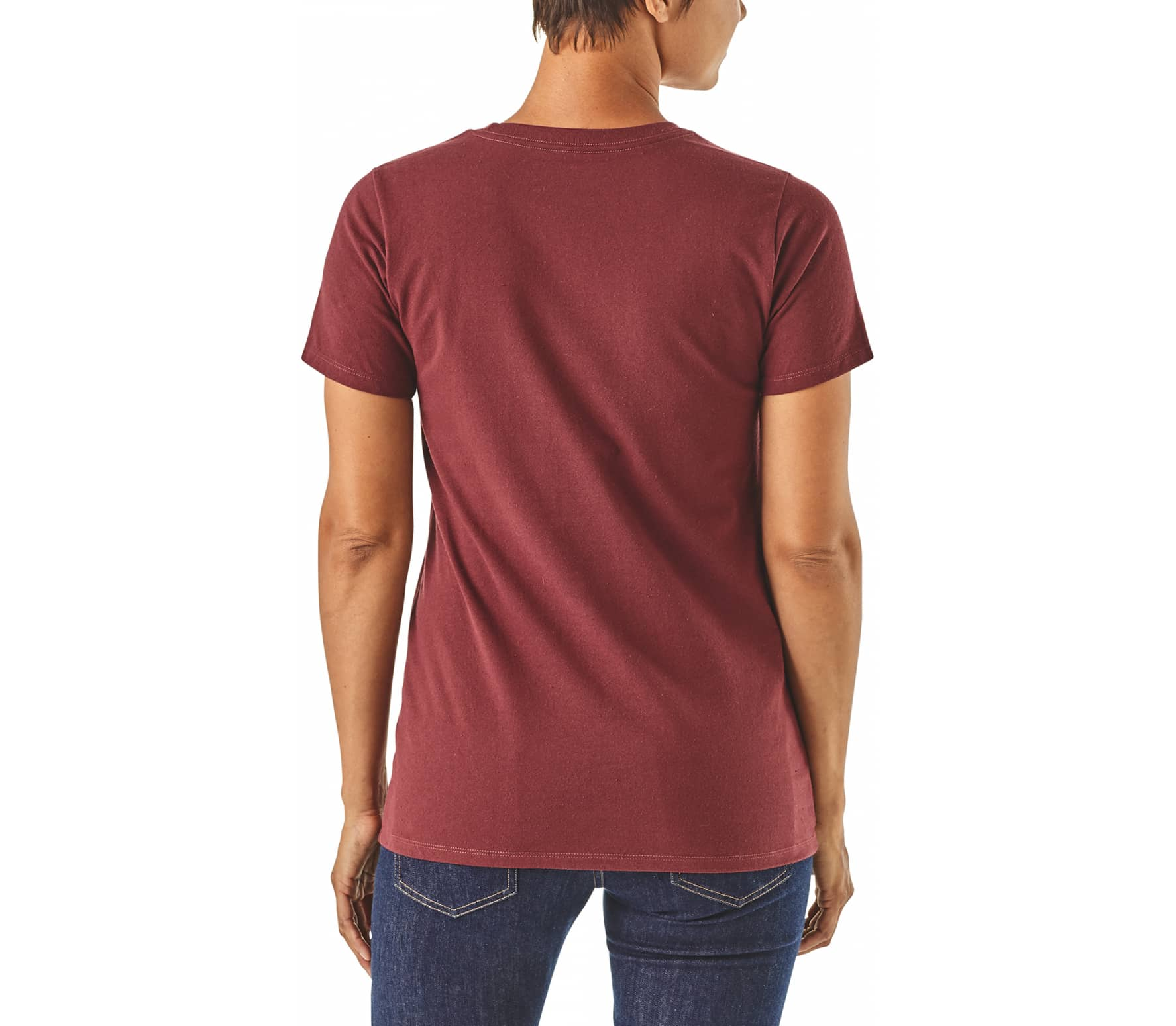 Patagonia - Live Simply Trailer Responsibili women's t-shirt (red)