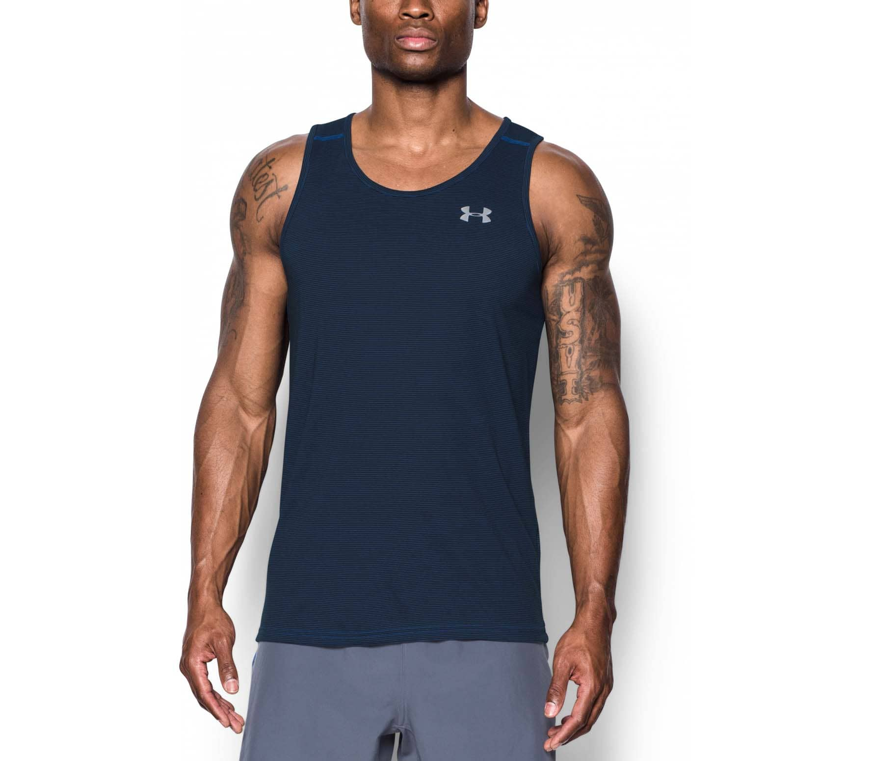 033aec01d533d Under Armour - Threadborne Streaker Singlet men s running tank top top  (blue)