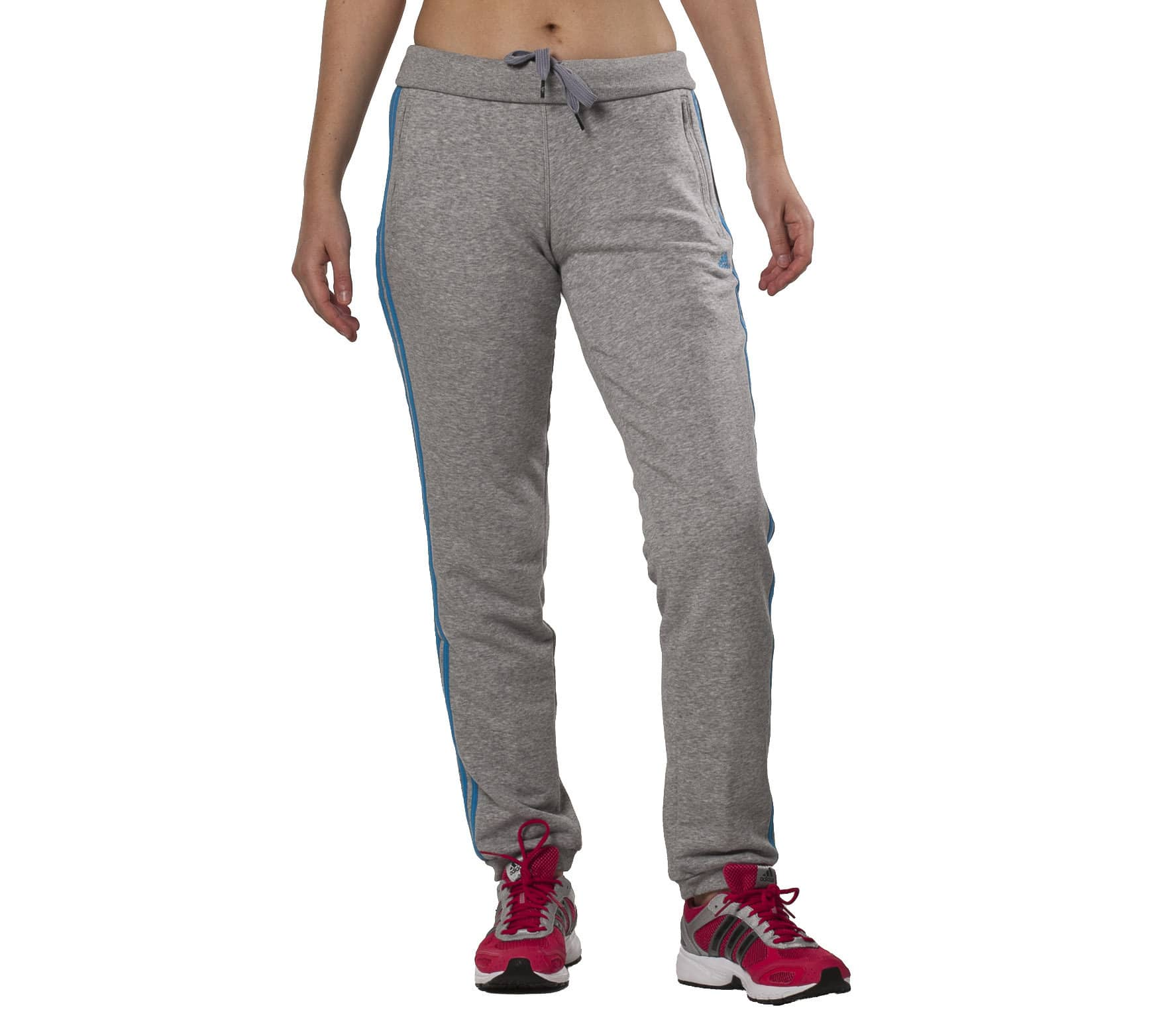 Adidas - Essentials 3 Stripes Seasonal Pant Femmes (gris bleu ... cf832ddab75
