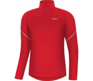 M Mid Zip Men Running Long Sleeve