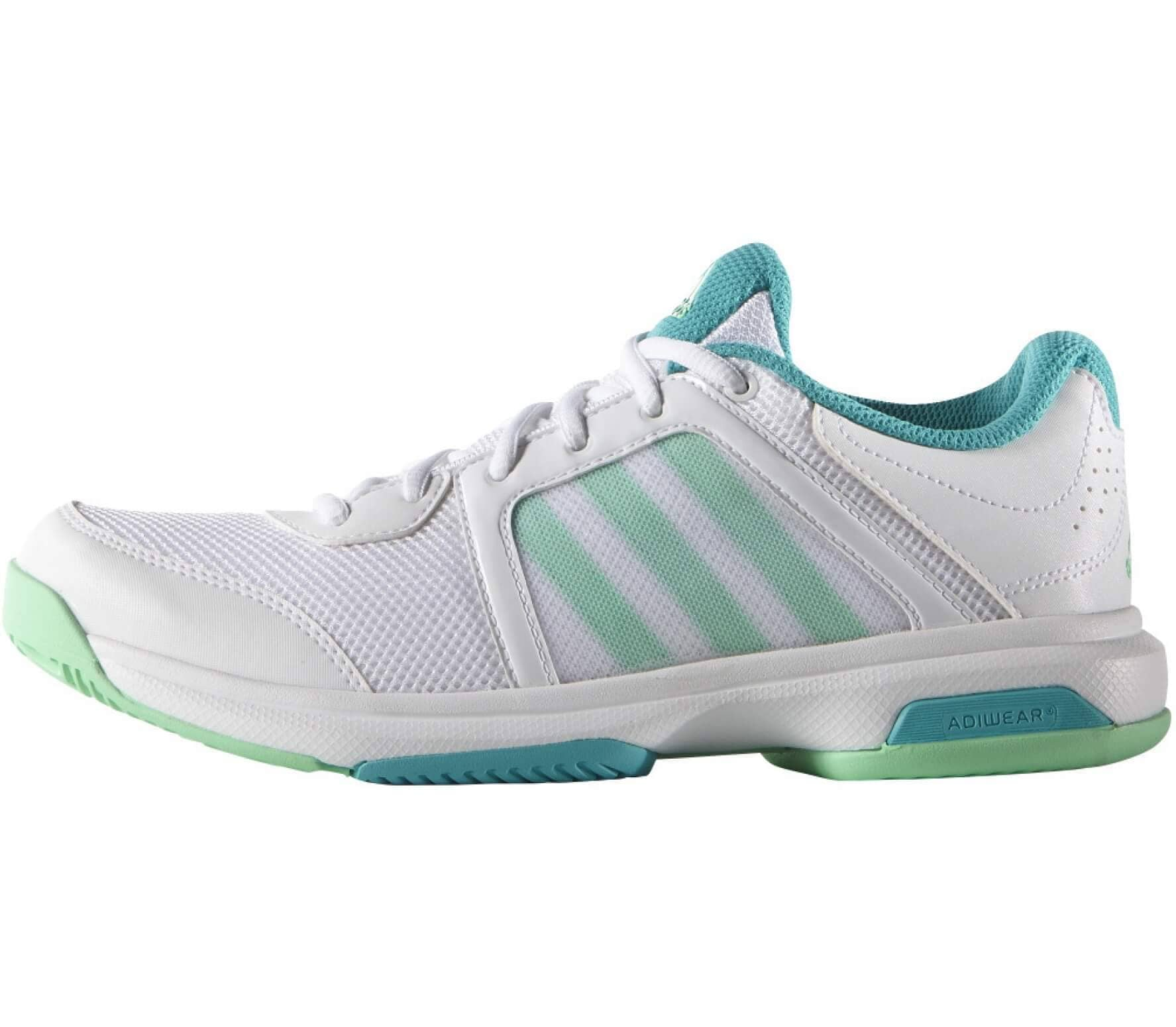 differently 08609 d00e0 adidas - Barricade Aspire Stripes women s tennis shoes (white turquoise)