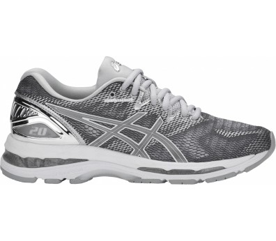 ASICS - Gel-Nimbus 20 Platinum women's running shoes (white/grey)