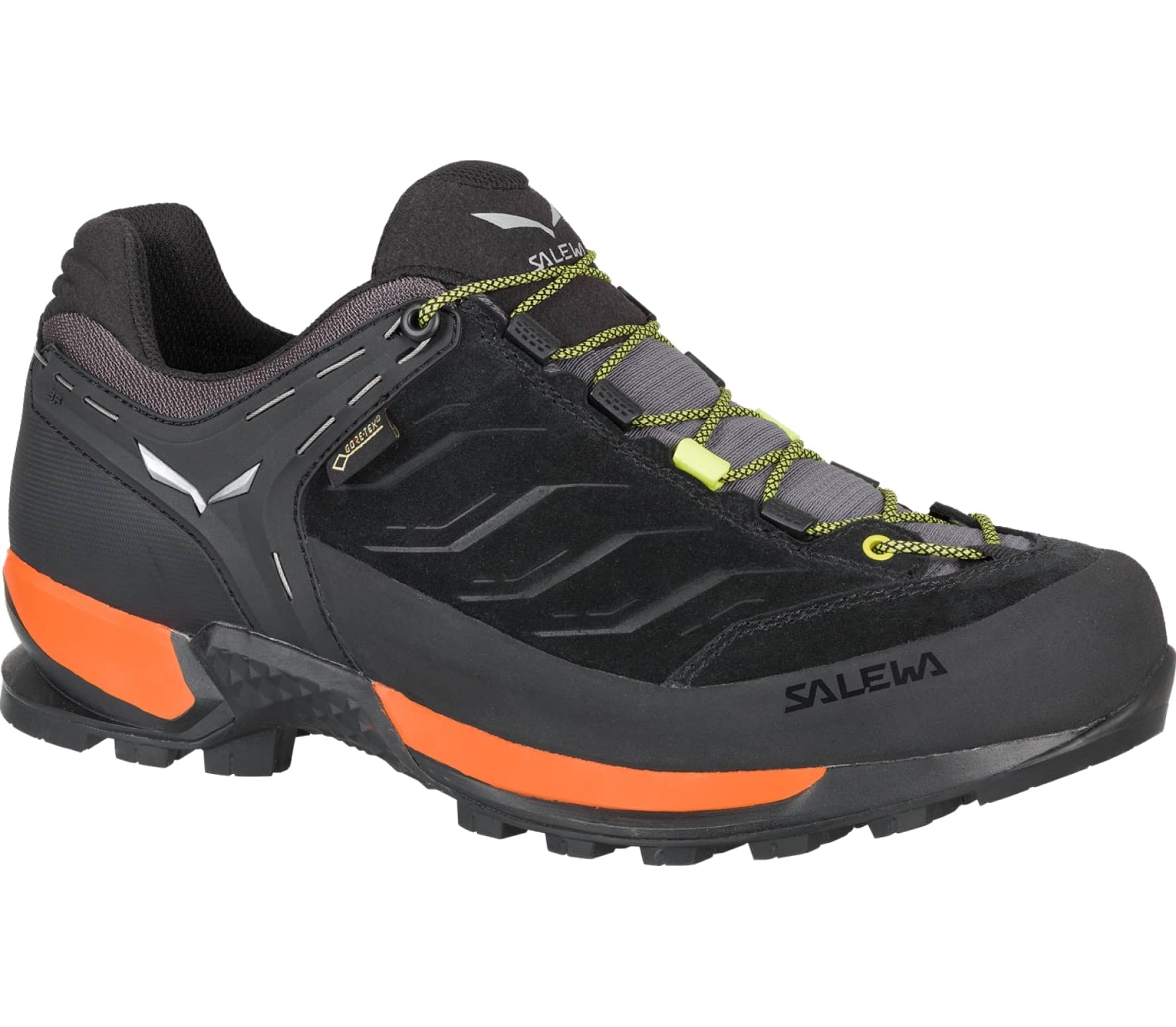 Salewa - MTN Trainer GTX Herren Bergschuh (schwarz/orange) - EU 41 - UK 7,5