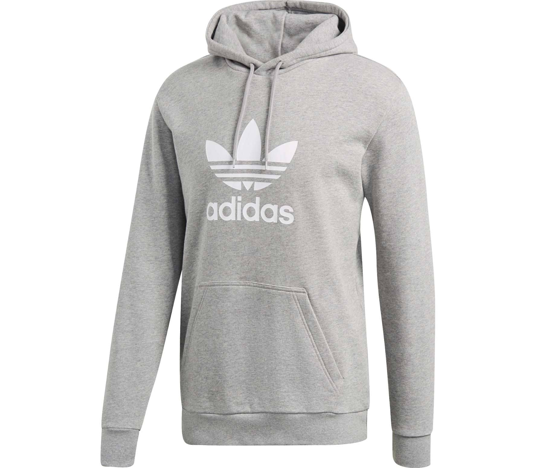 buy online 5ccb2 4a30f adidas Originals Trefoil Warm-Up Herren Hoodie grau