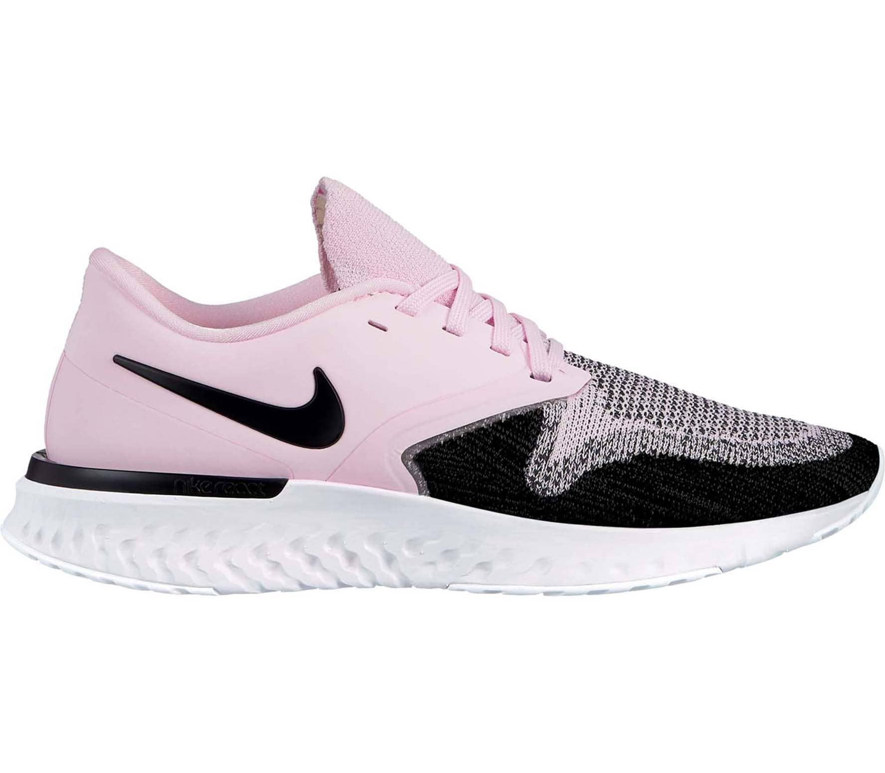 Nike - Odyssey React Flyknit 2 women s running shoes (pink black ... 7218682cc