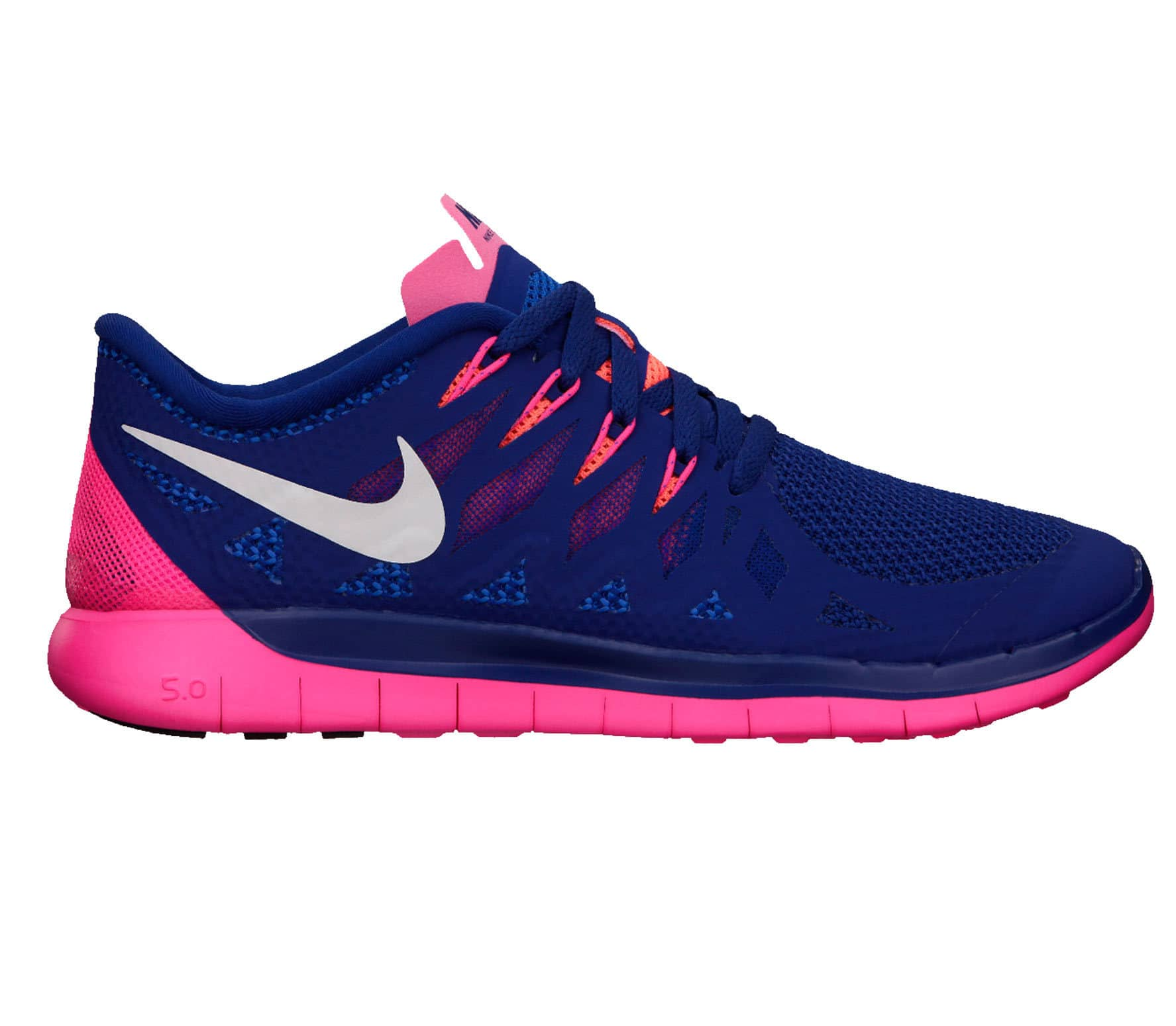 new arrival 664bd 46882 Nike - Free 5.0 women s running shoes (blue pink)