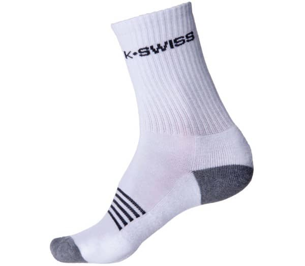 K-SWISS 3 Pack Crew Tennis Socks - 1
