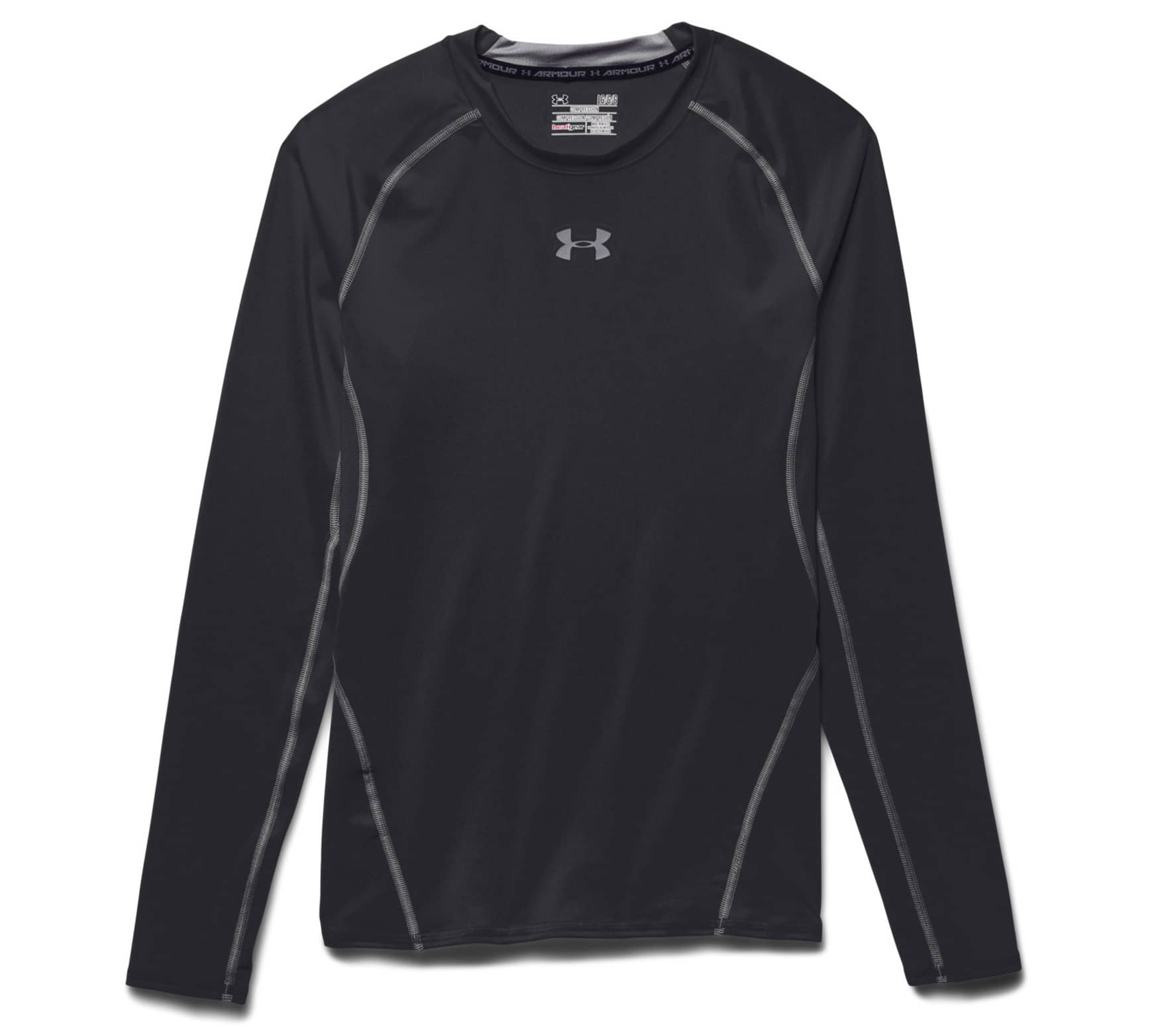 Under Armour - Armour Heatgear Longsleeve Compression Herren Trainingsshirt (schwarz) - M