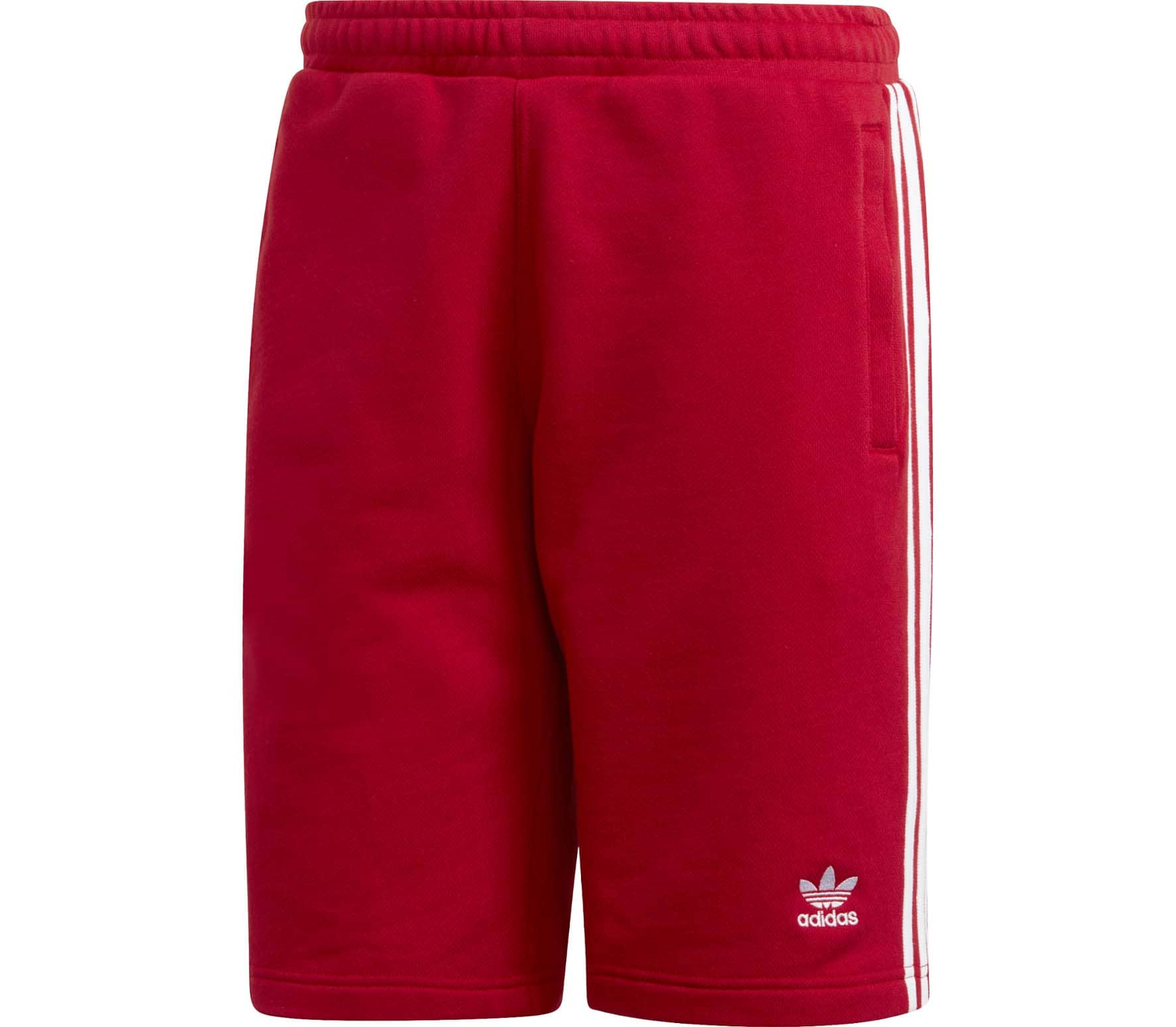 adidas Originals 3 Stripe Herren Shorts rot
