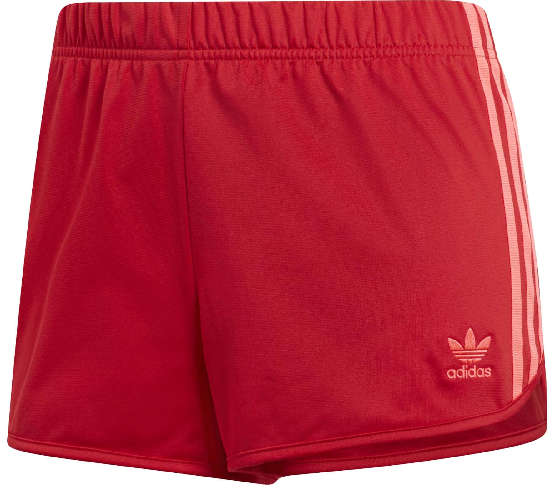 adidas Originals 3-Stripes Women Shorts red