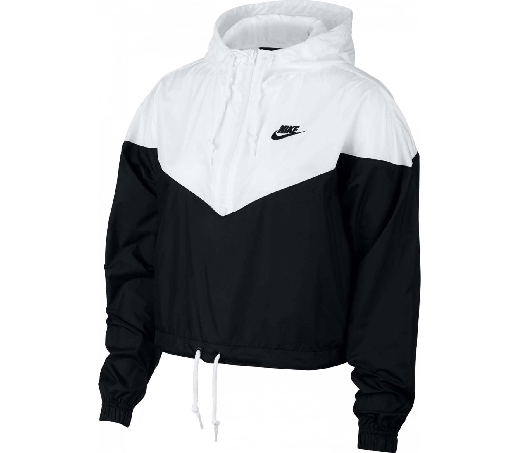 6a68e5e8179b Nike Sportswear - windbreaker women s jacket (black white) - buy it ...