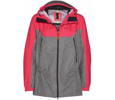 Bogner Fire   Ice - Ella women's 3 layer jacket (coral/grey)