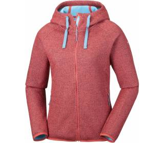Columbia Pacific Point Full Zip Femmes rouge
