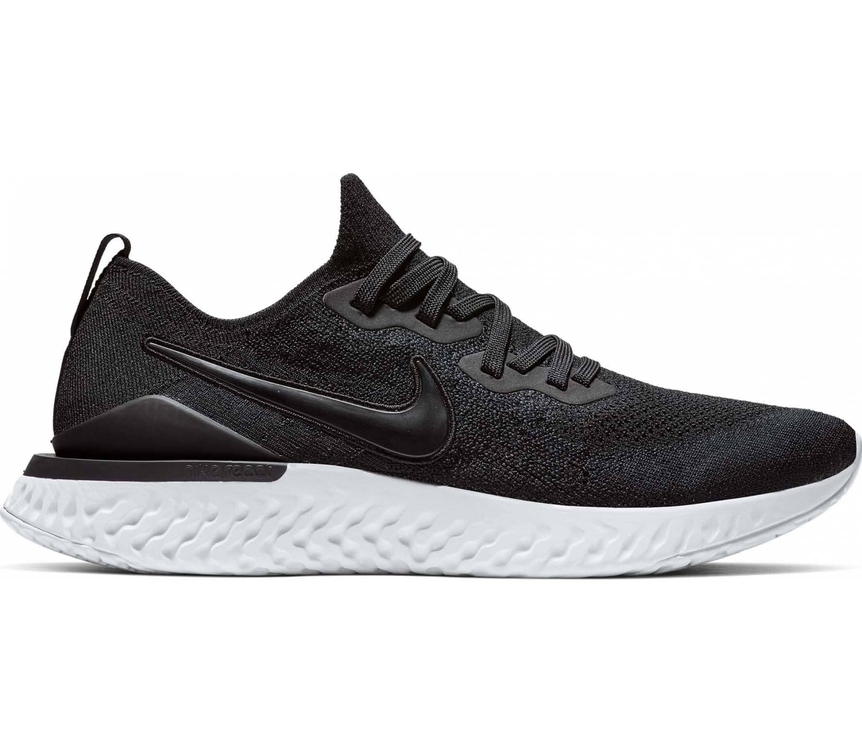 1766e479e Nike - Epic React Flyknit 2 men's running shoes (black/white) - buy ...