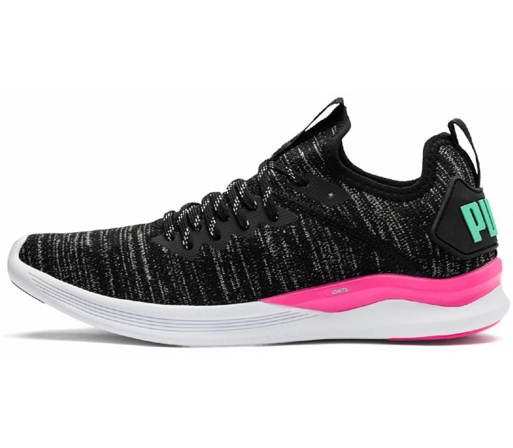 21eeba89eab2e4 Puma - Ignite Flash Evoknit women s training shoes (black pink ...
