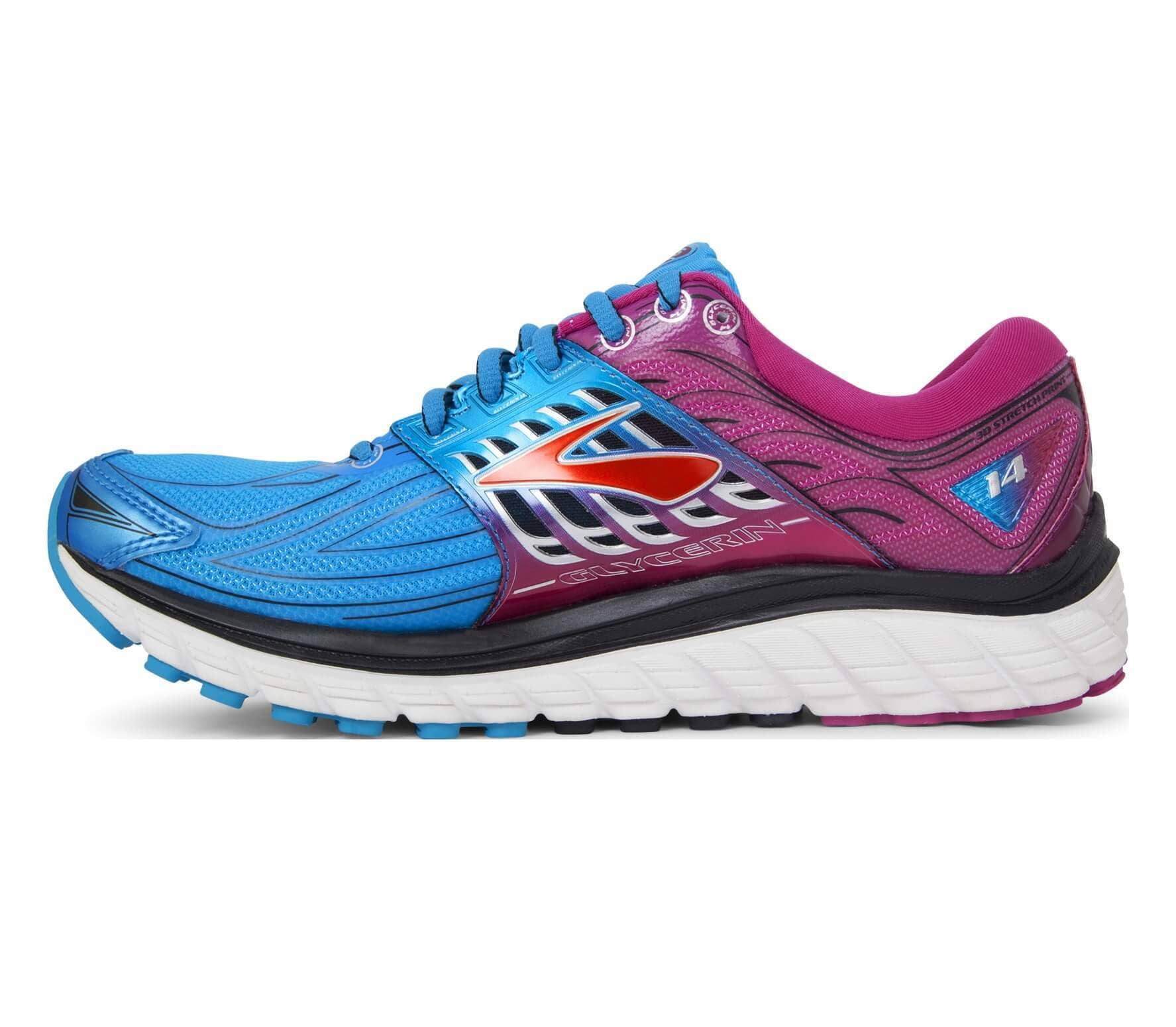 a4927da5ce2f7 Brooks - Glycerin 14 women s running shoes (blue pink) - buy it at ...