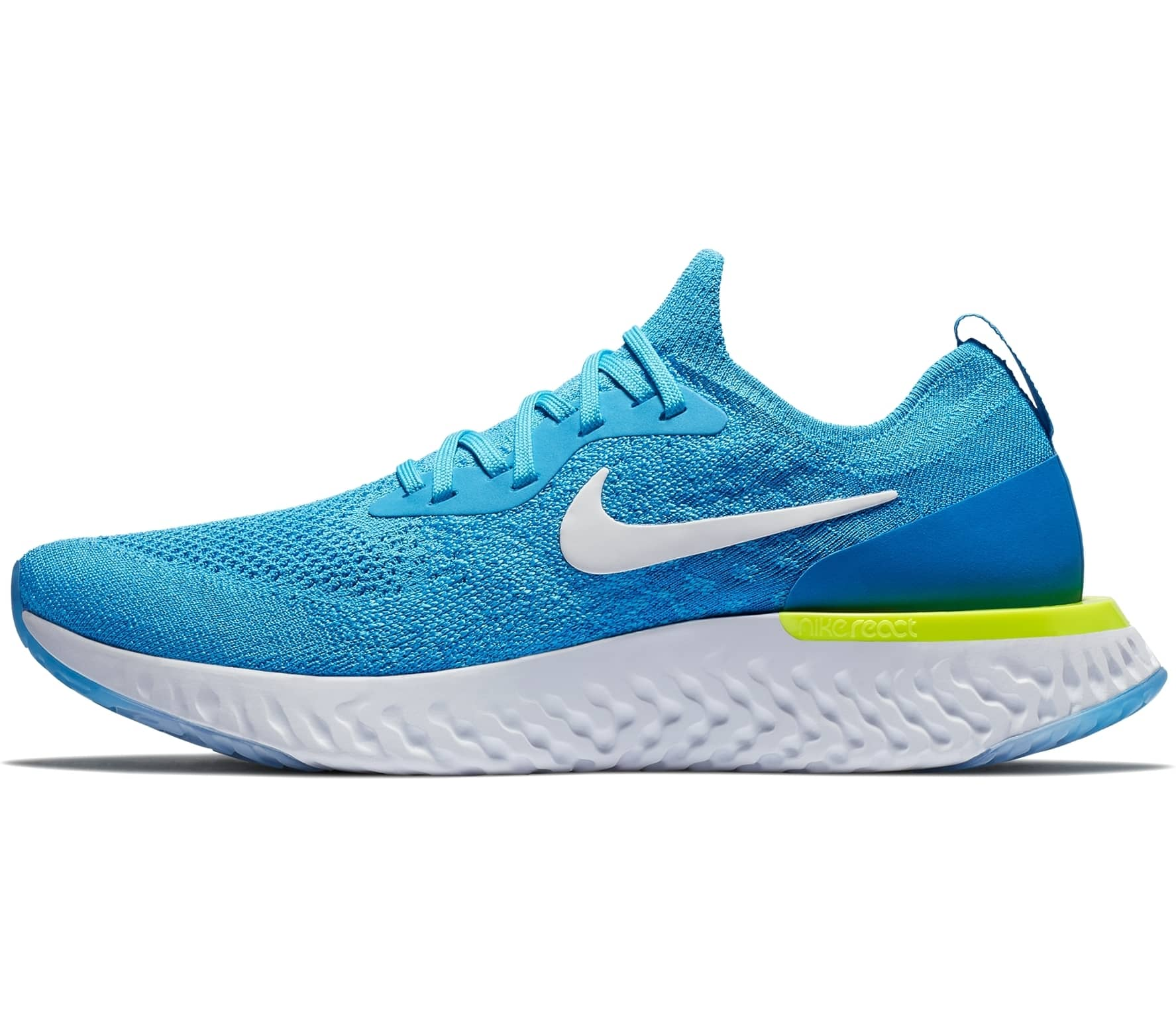 35eaaae85e20a Nike - Epic React Flyknit men s running shoes (blue white) - buy it ...