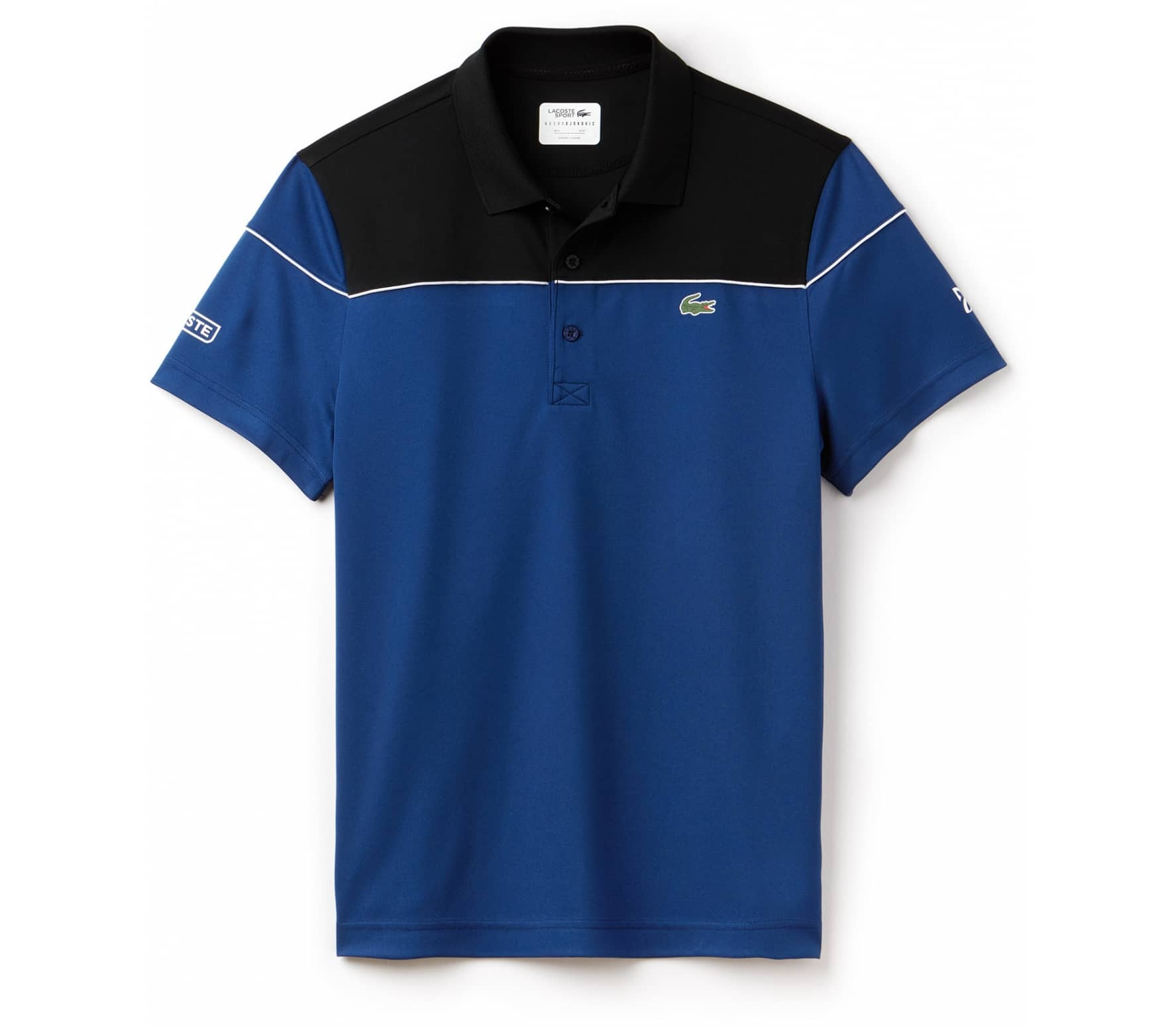 97d52824c9 Lacoste - Court Sleeved Ribbed Collar Hommes Tennis Polo (bleu/noir ...